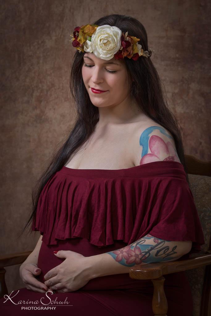 Schwangerschaftsbilder Fine Art Portrait in Koblenz