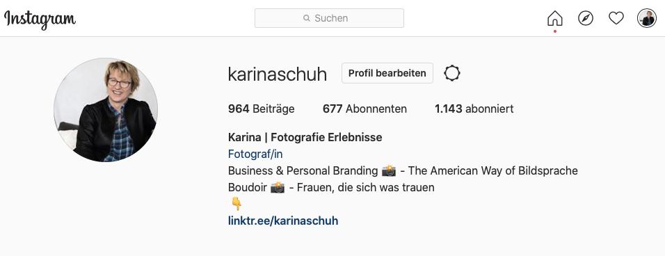 Instagram Profil Ansicht