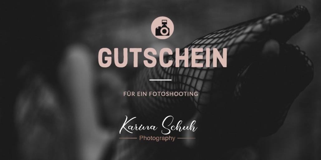 Gutschein für ein Boudoir Fotoshooting als Geschenk