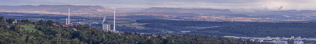 Panorama auf Esslingen am Neckar