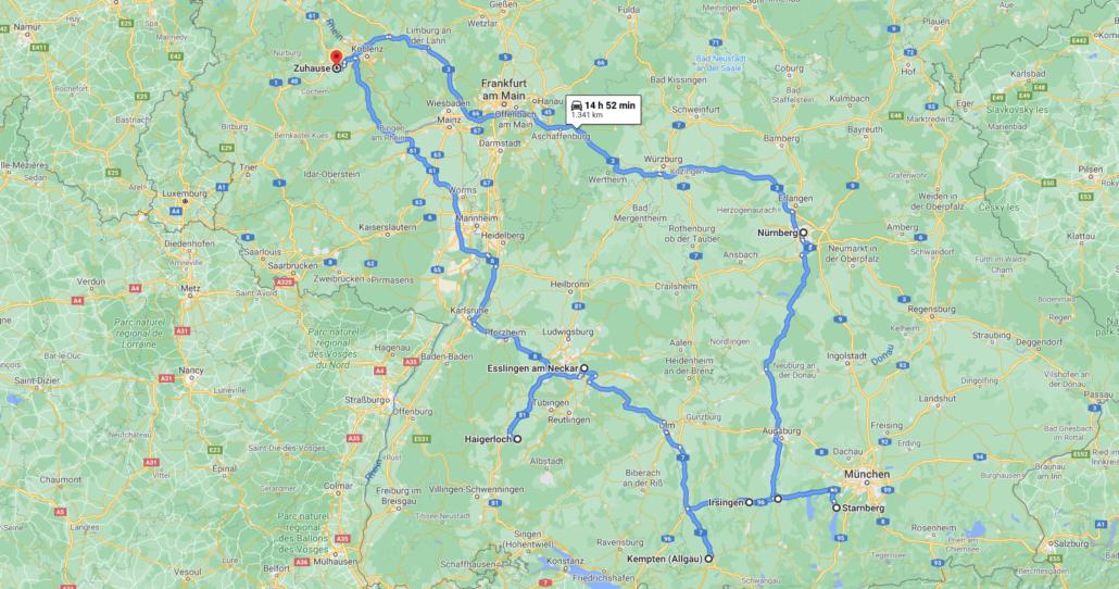 Foto Tour durch Bayern und Baden-Württemberg